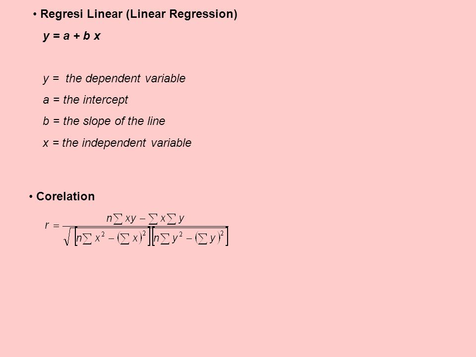 Regresi Linear (Linear Regression)