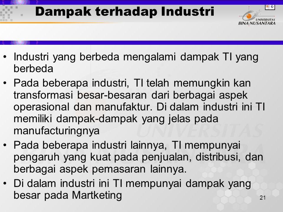 Dampak terhadap Industri