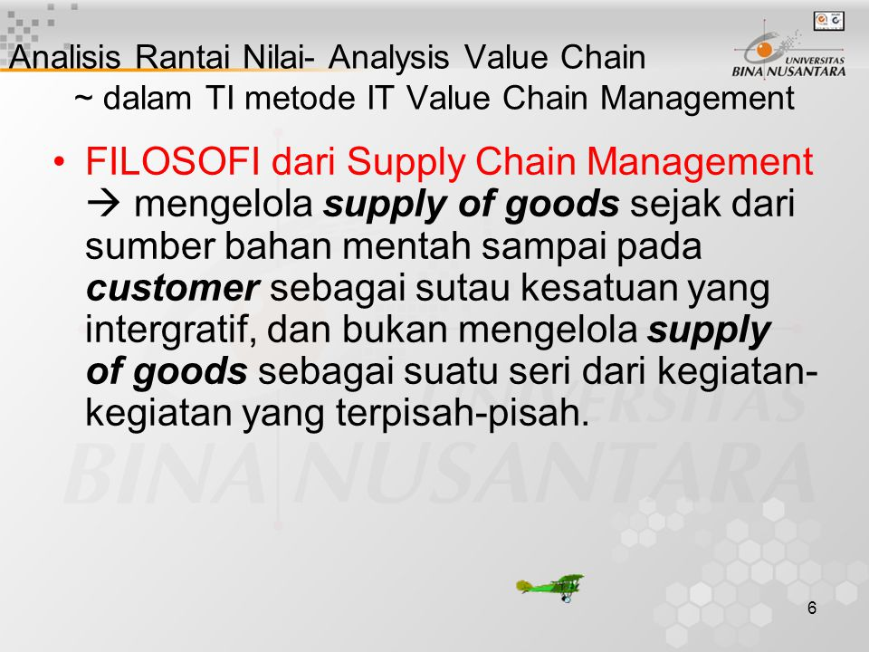 Analisis Rantai Nilai- Analysis Value Chain ~ dalam TI metode IT Value Chain Management