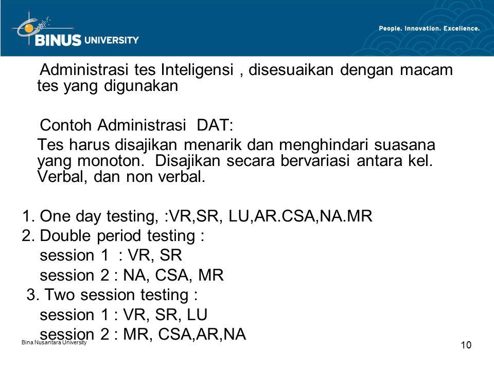 Contoh Administrasi DAT: