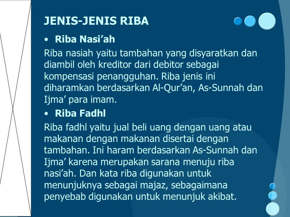 JENIS-JENIS RIBA Riba Nasi'ah