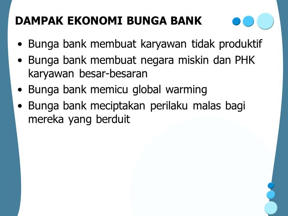 DAMPAK EKONOMI BUNGA BANK
