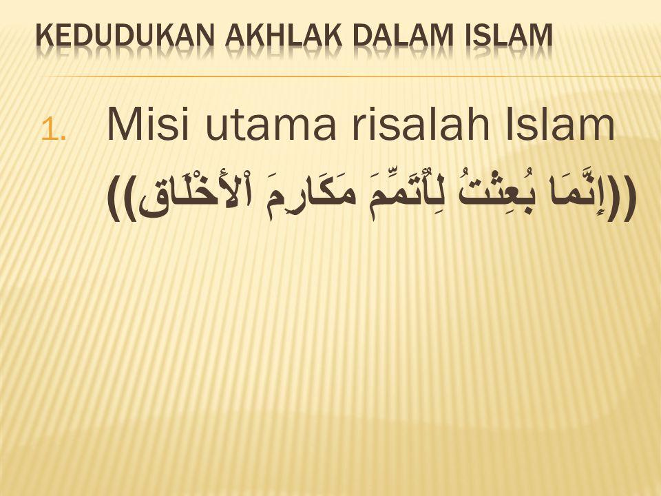 Kedudukan Akhlak Dalam Islam