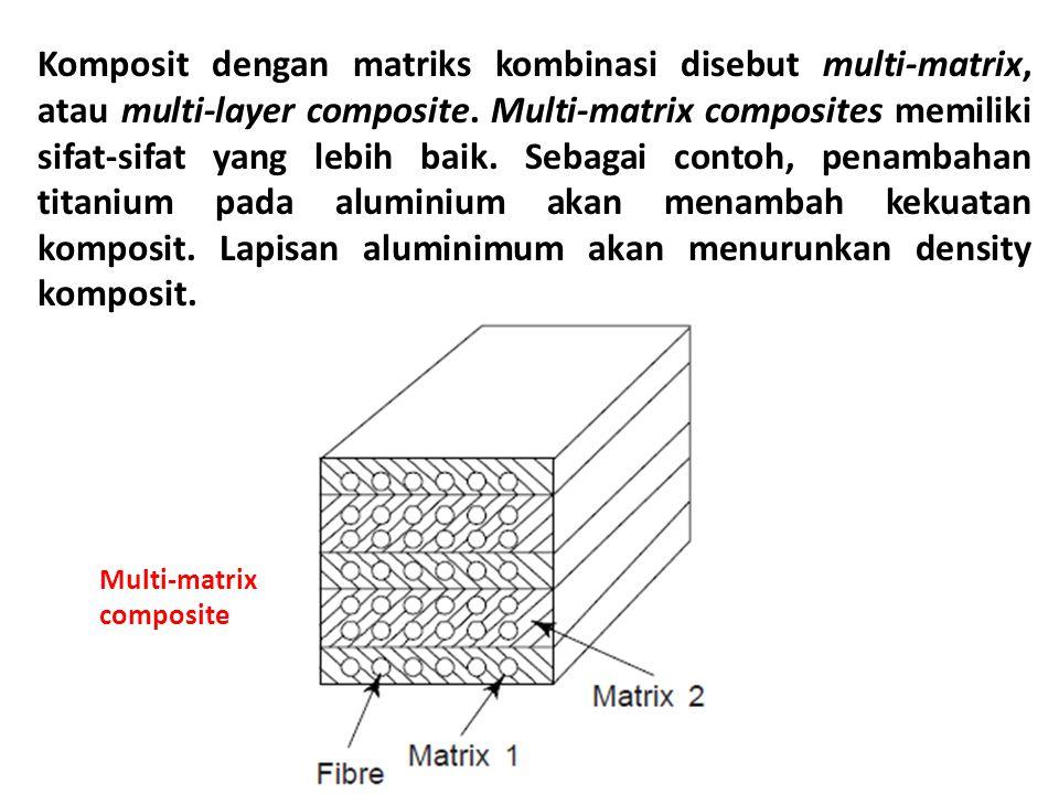 Komposit dengan matriks kombinasi disebut multi-matrix, atau multi-layer composite. Multi-matrix composites memiliki sifat-sifat yang lebih baik. Sebagai contoh, penambahan titanium pada aluminium akan menambah kekuatan komposit. Lapisan aluminimum akan menurunkan density komposit.