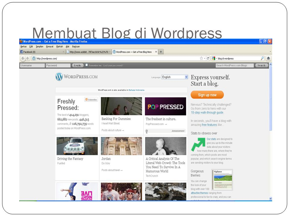 Membuat Blog di Wordpress