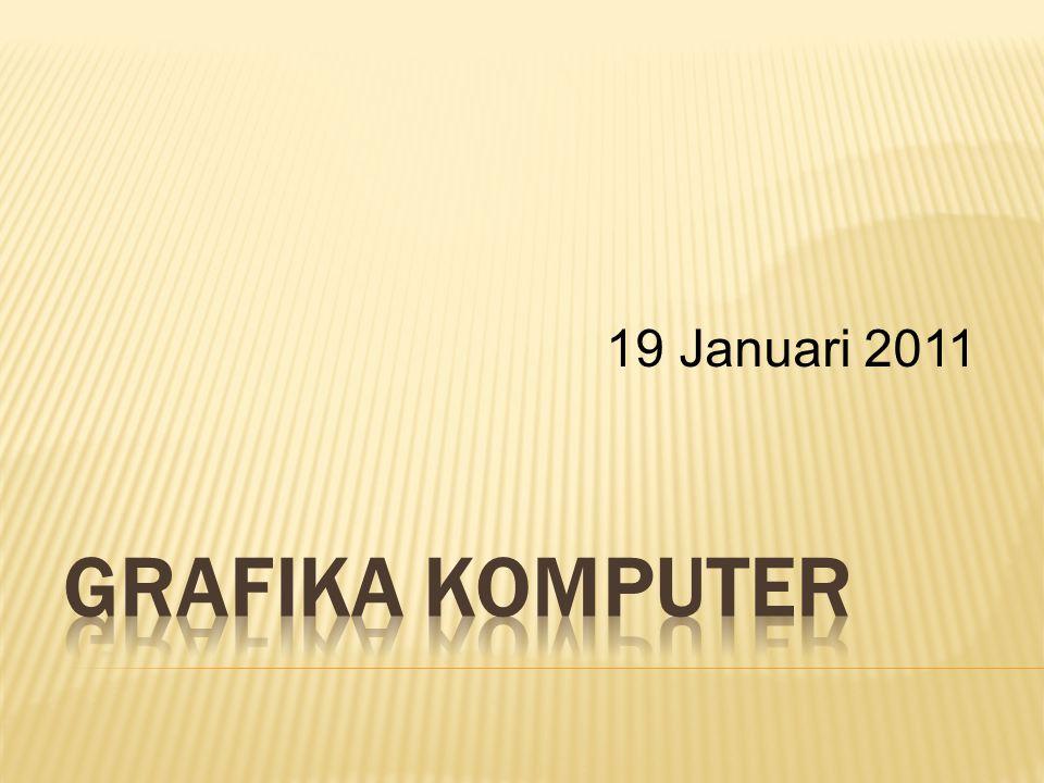19 Januari 2011 Grafika komputer