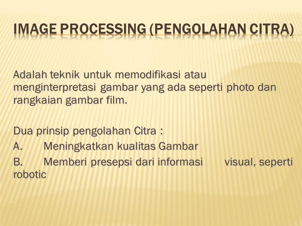 Image Processing (Pengolahan Citra)