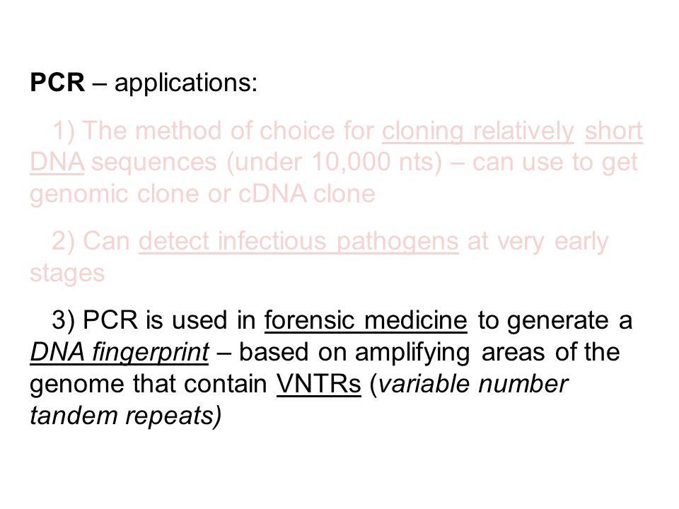 PCR – applications: