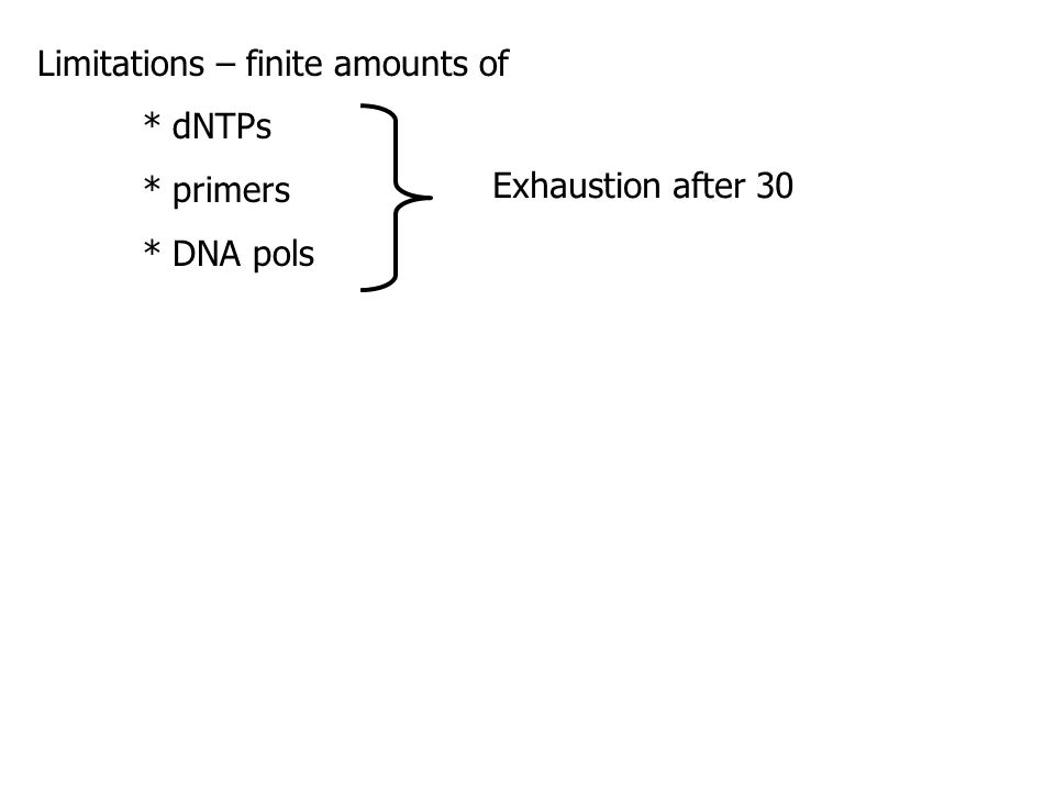 Limitations – finite amounts of