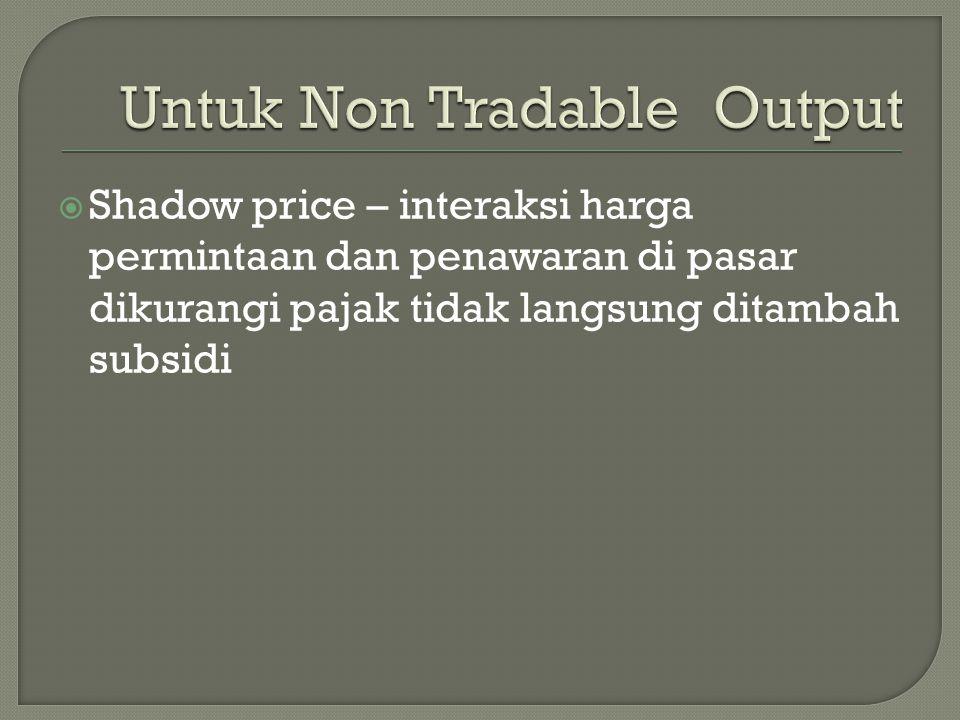 Untuk Non Tradable Output