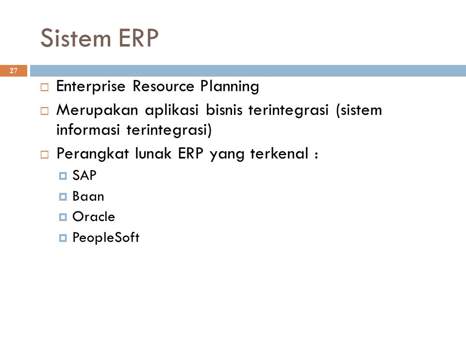 Sistem ERP Enterprise Resource Planning