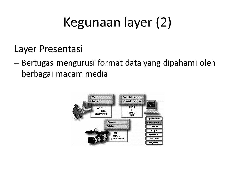 Kegunaan layer (2) Layer Presentasi