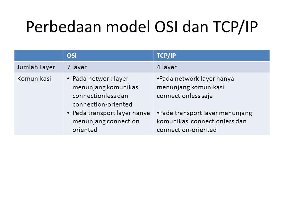 Perbedaan model OSI dan TCP/IP
