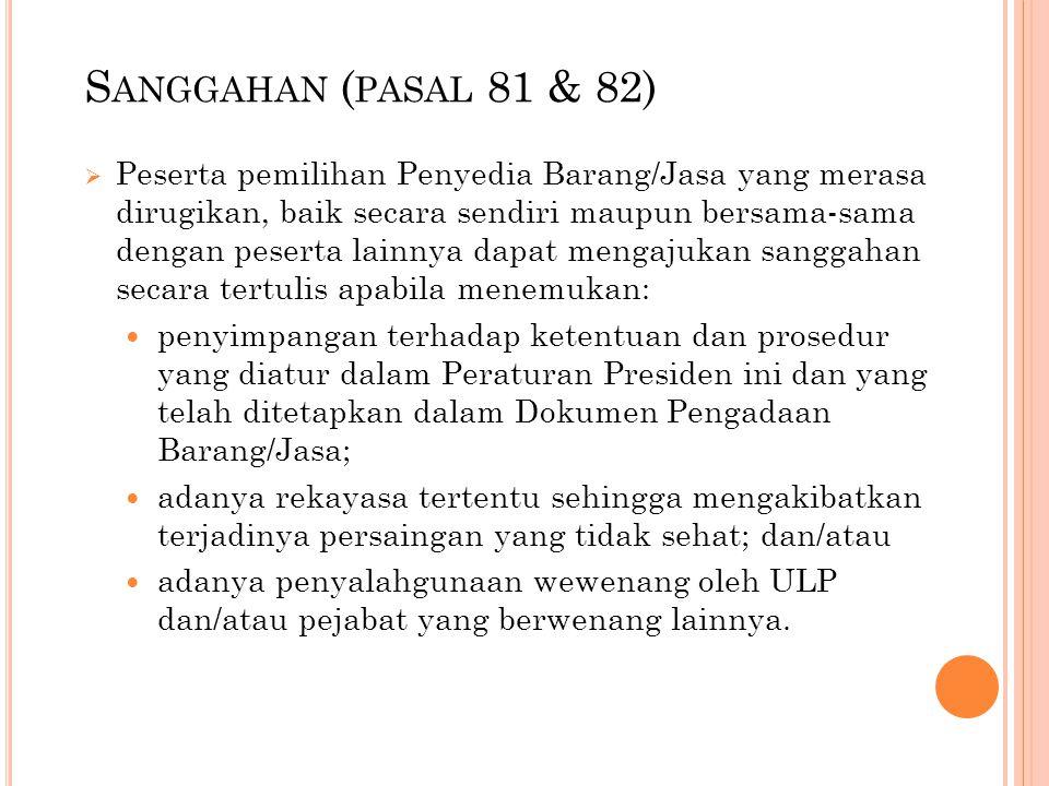 Sanggahan (pasal 81 & 82)