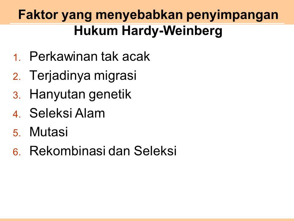 Faktor yang menyebabkan penyimpangan Hukum Hardy-Weinberg