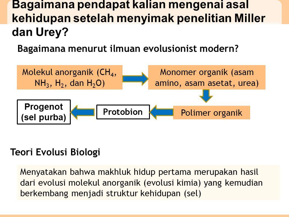 Bagaimana pendapat kalian mengenai asal kehidupan setelah menyimak penelitian Miller dan Urey