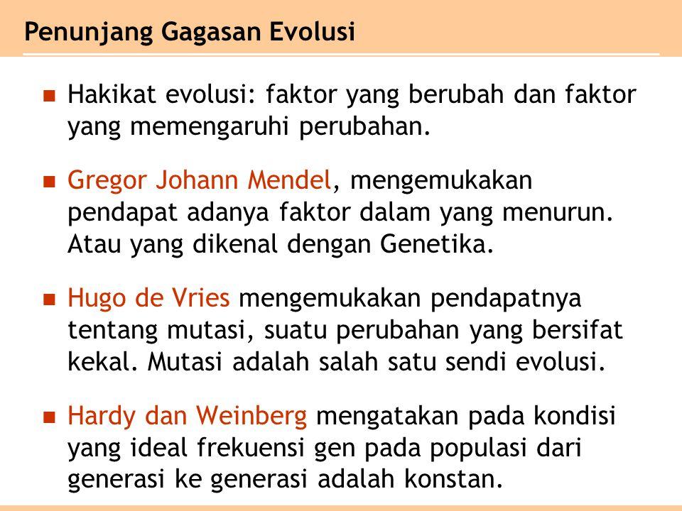 Penunjang Gagasan Evolusi