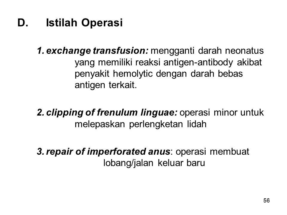 D. Istilah Operasi