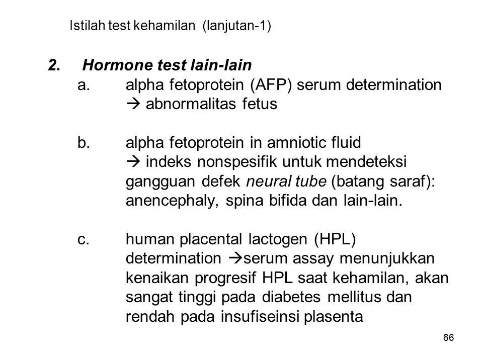 Istilah test kehamilan (lanjutan-1)