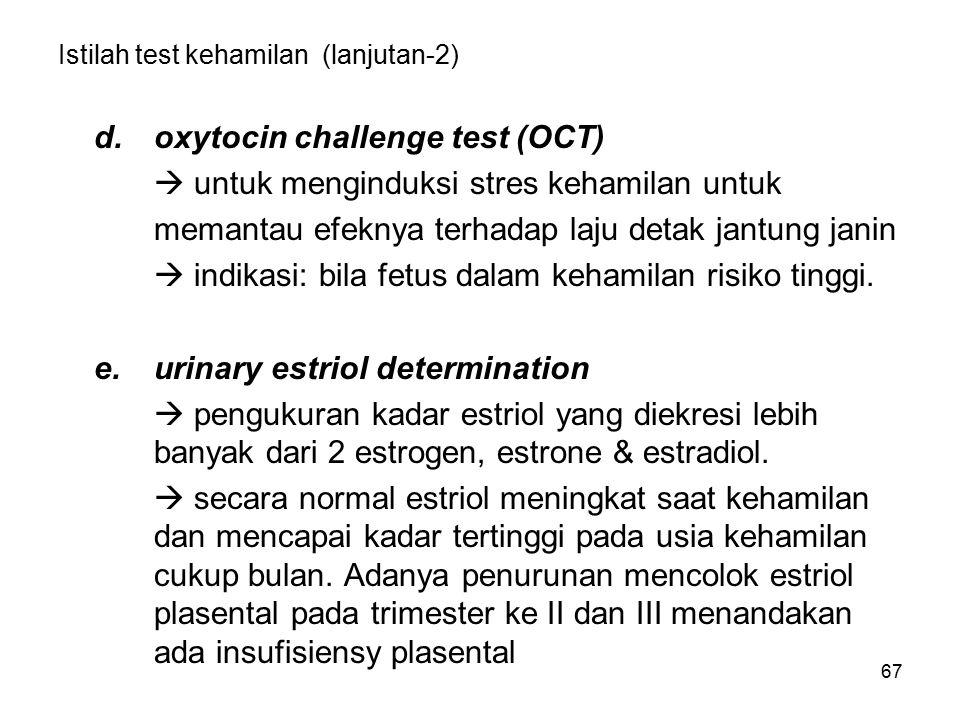 Istilah test kehamilan (lanjutan-2)