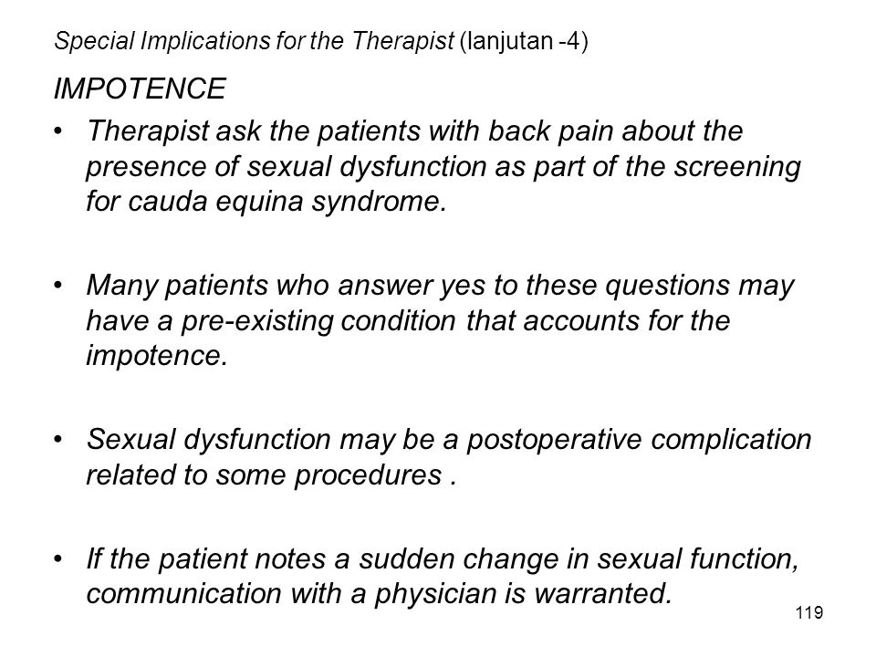 Special Implications for the Therapist (lanjutan -4)