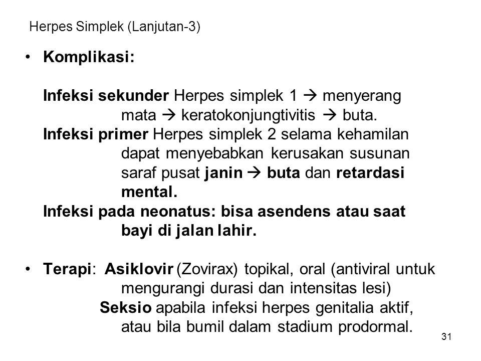 Herpes Simplek (Lanjutan-3)
