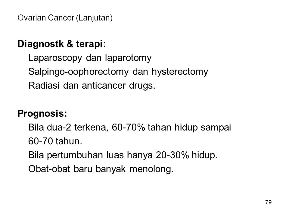 Ovarian Cancer (Lanjutan)