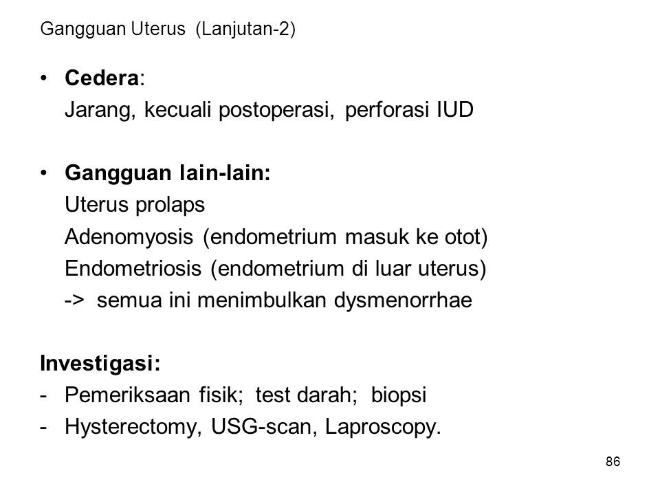 Gangguan Uterus (Lanjutan-2)