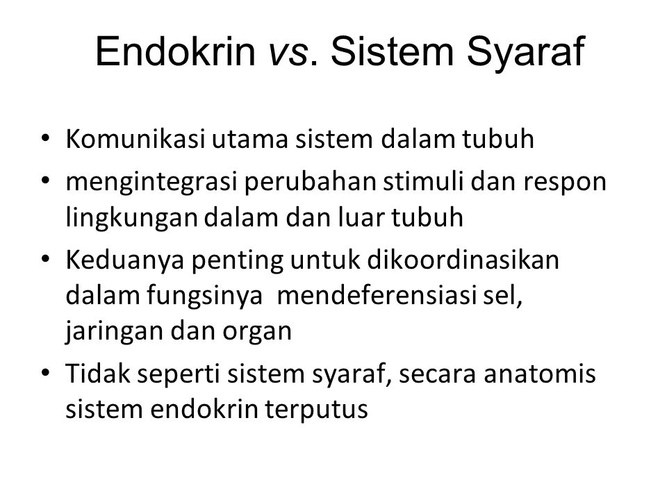Endokrin vs. Sistem Syaraf