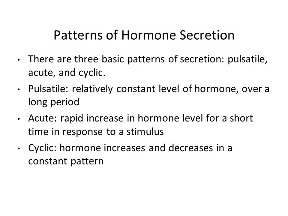 Patterns of Hormone Secretion
