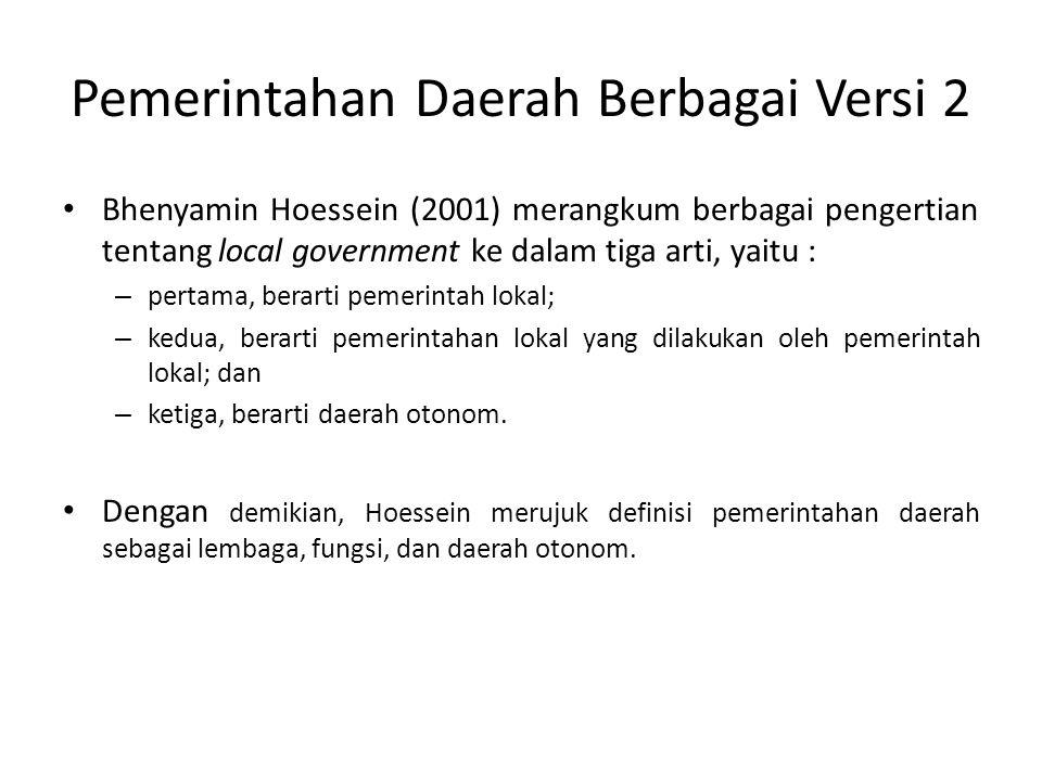 Pemerintahan Daerah Berbagai Versi 2