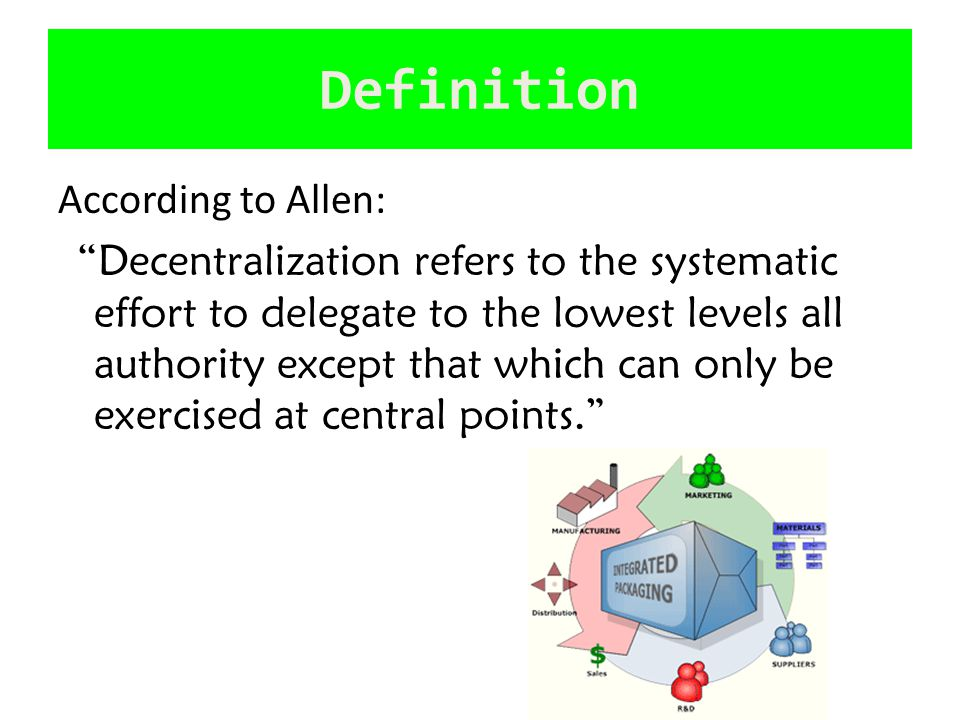 Definition According to Allen: