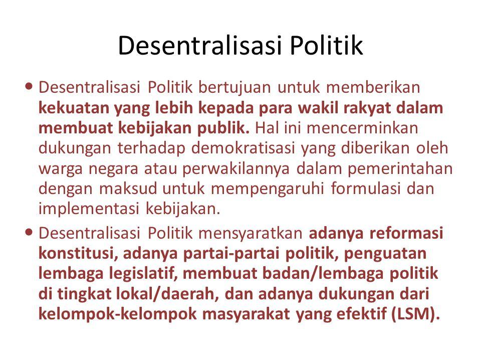 Desentralisasi Politik
