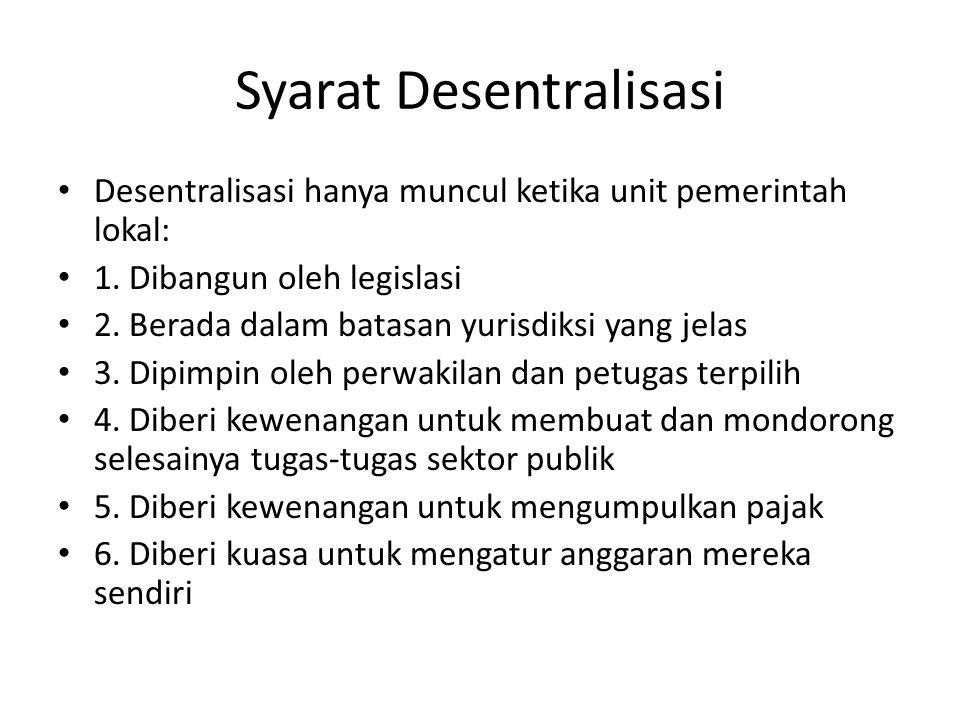 Syarat Desentralisasi