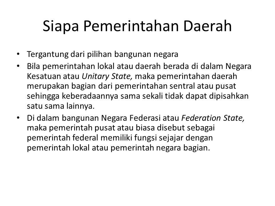 Siapa Pemerintahan Daerah