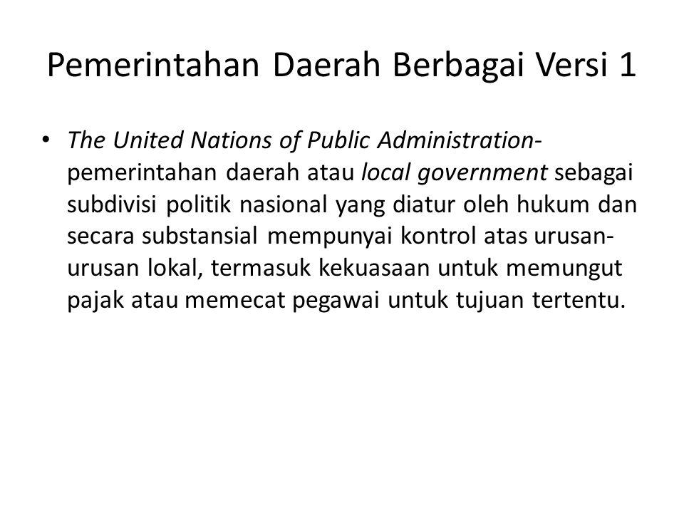 Pemerintahan Daerah Berbagai Versi 1