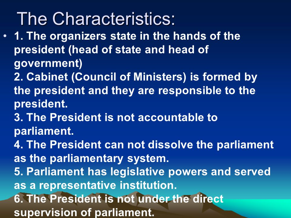 The Characteristics: