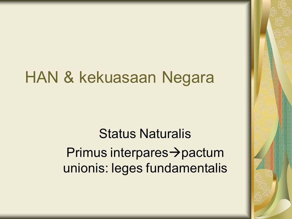 Status Naturalis Primus interparespactum unionis: leges fundamentalis