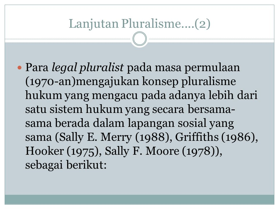 Lanjutan Pluralisme....(2)