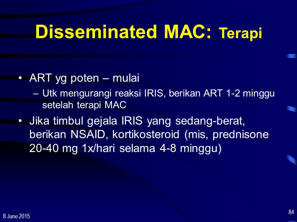 Disseminated MAC: Terapi