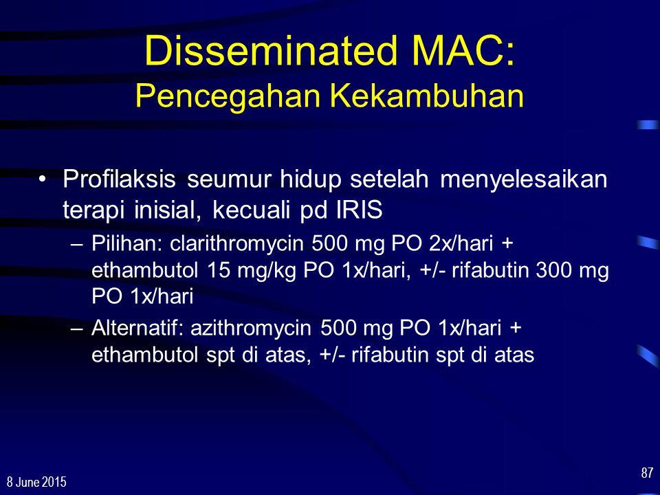Disseminated MAC: Pencegahan Kekambuhan