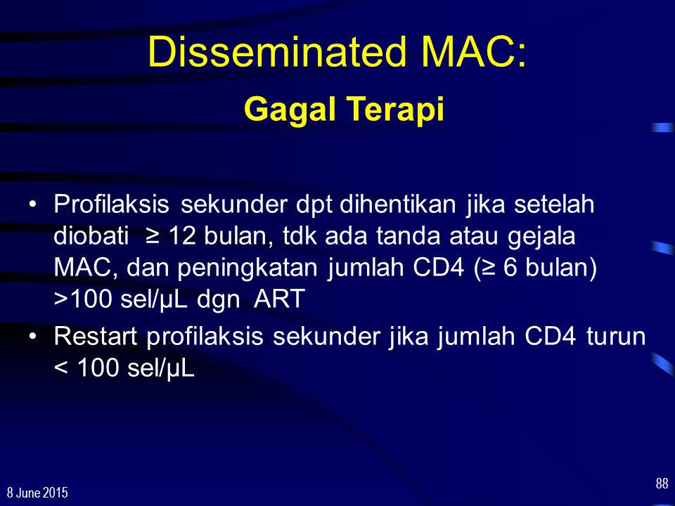 Disseminated MAC: Gagal Terapi
