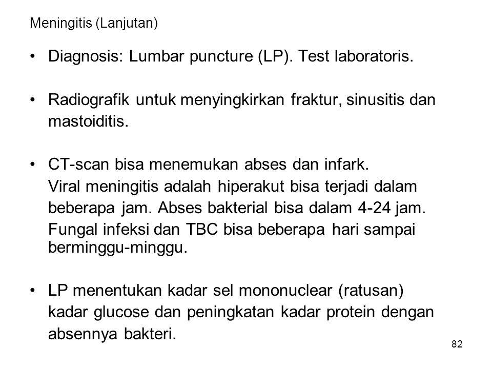 Meningitis (Lanjutan)