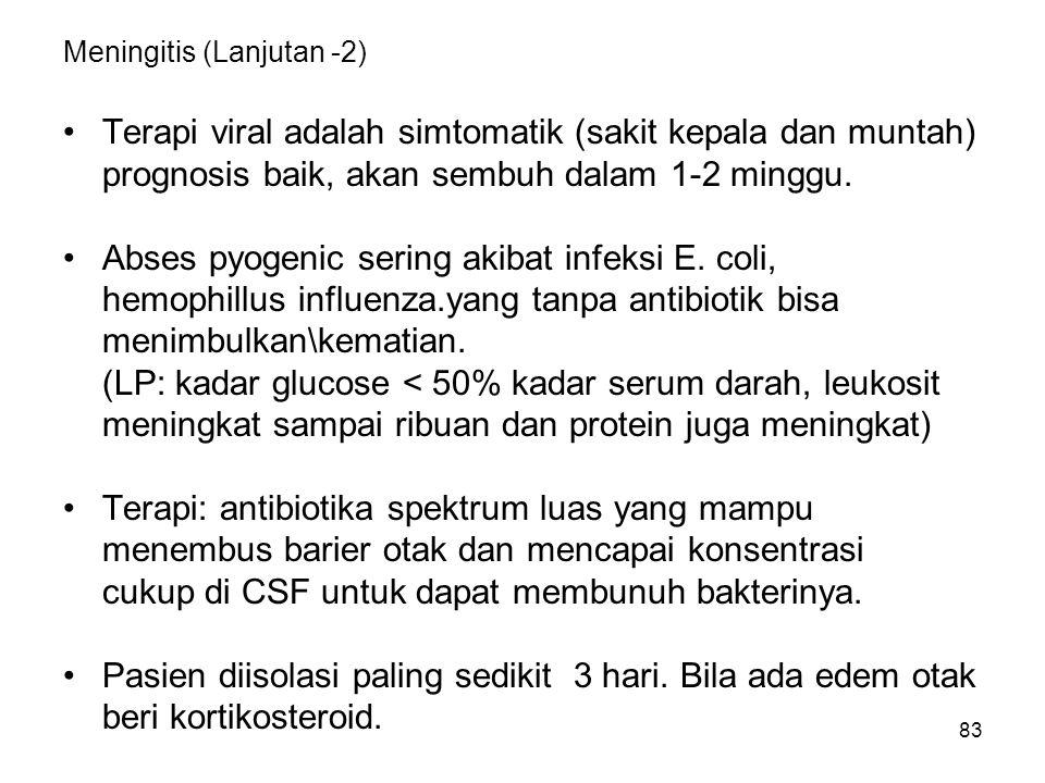 Meningitis (Lanjutan -2)