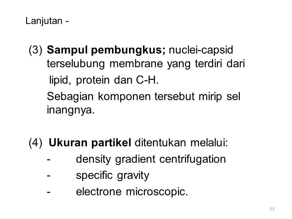 Sebagian komponen tersebut mirip sel inangnya.