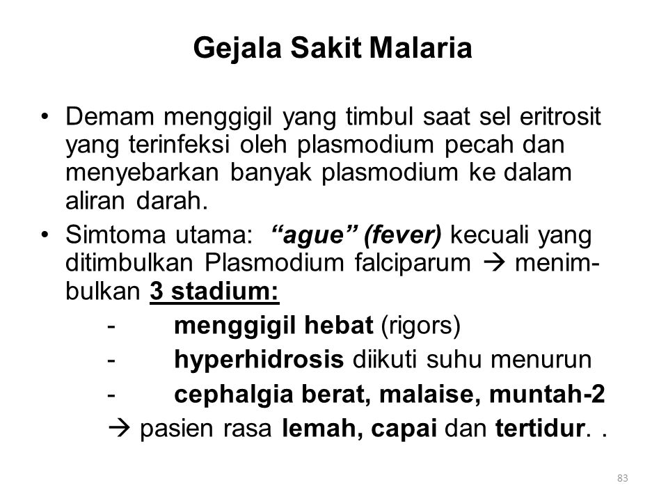 Gejala Sakit Malaria