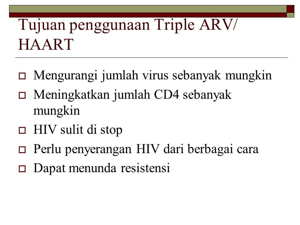 Tujuan penggunaan Triple ARV/ HAART