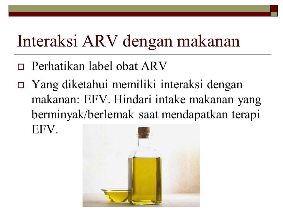 Interaksi ARV dengan makanan