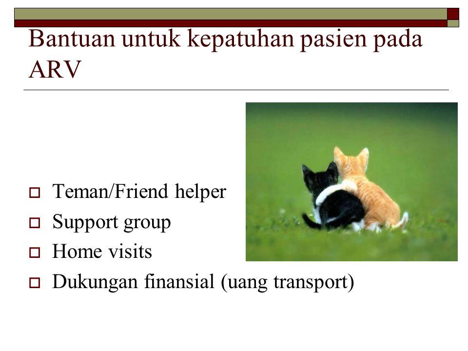 Bantuan untuk kepatuhan pasien pada ARV