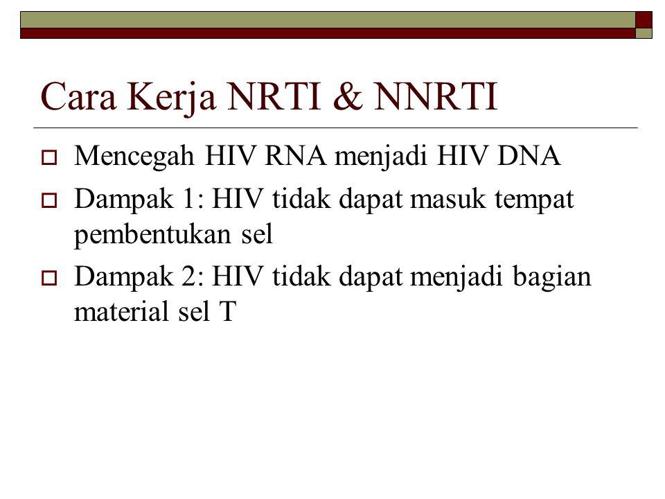 Cara Kerja NRTI & NNRTI Mencegah HIV RNA menjadi HIV DNA